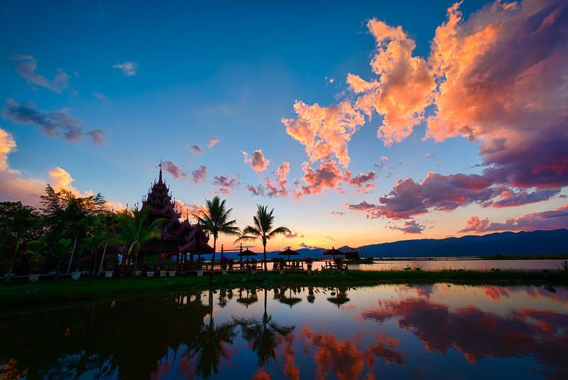 The beautiful Lake Inle resort.  Lake Inle, Myanmar