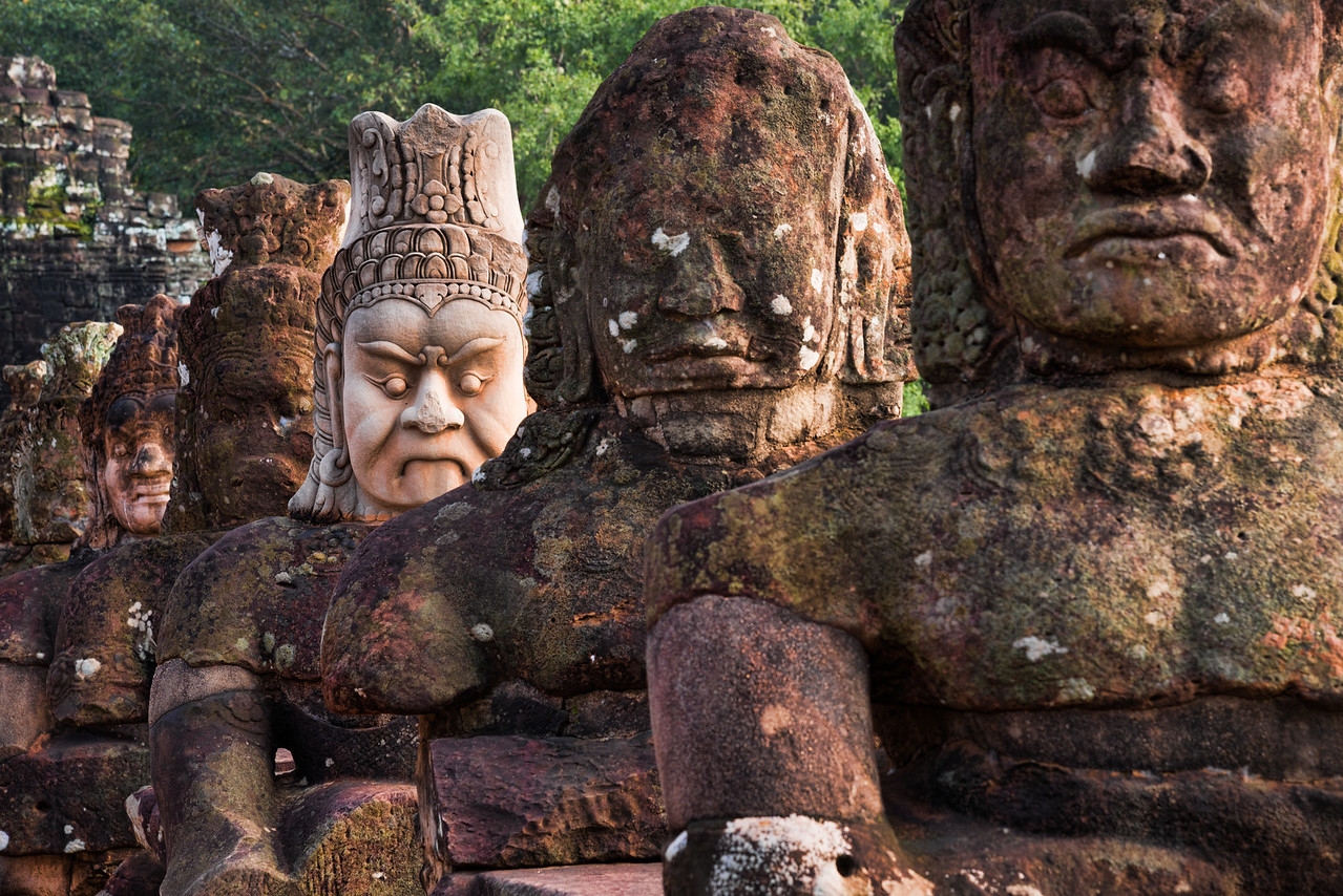 Ancient Angkor soldiers Siem Reap, Cambodia