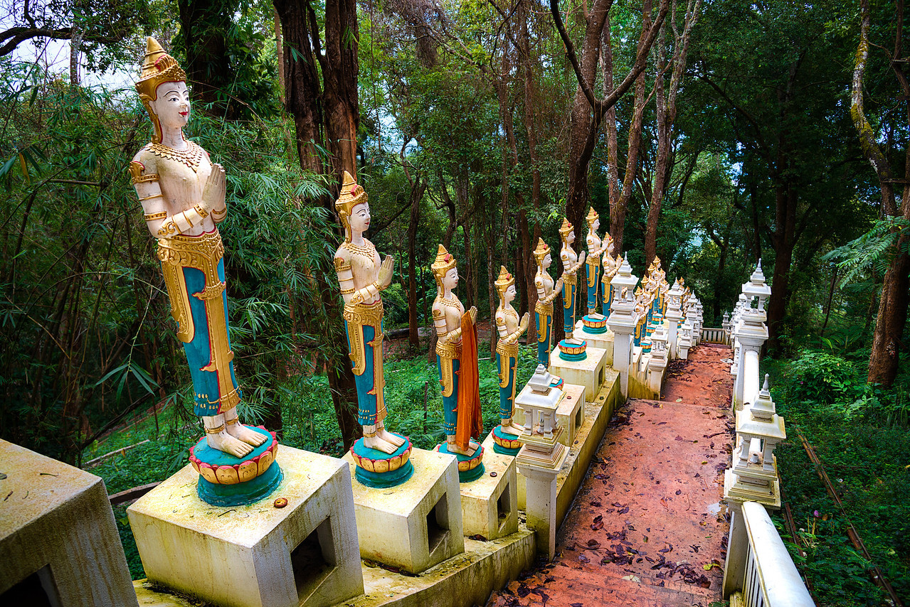 Ascending the stairway to enlightenment.  Chiang Mai, Thailand