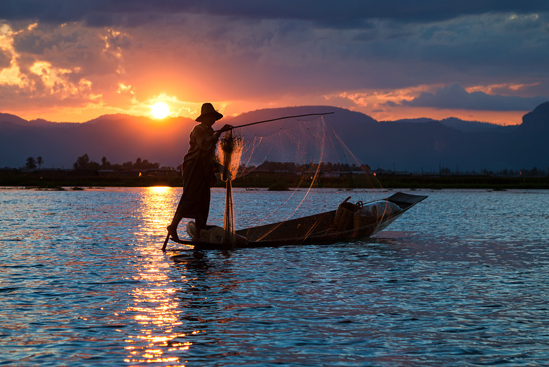 The last chance to catch dinner.  Lake Inle, Myanmar