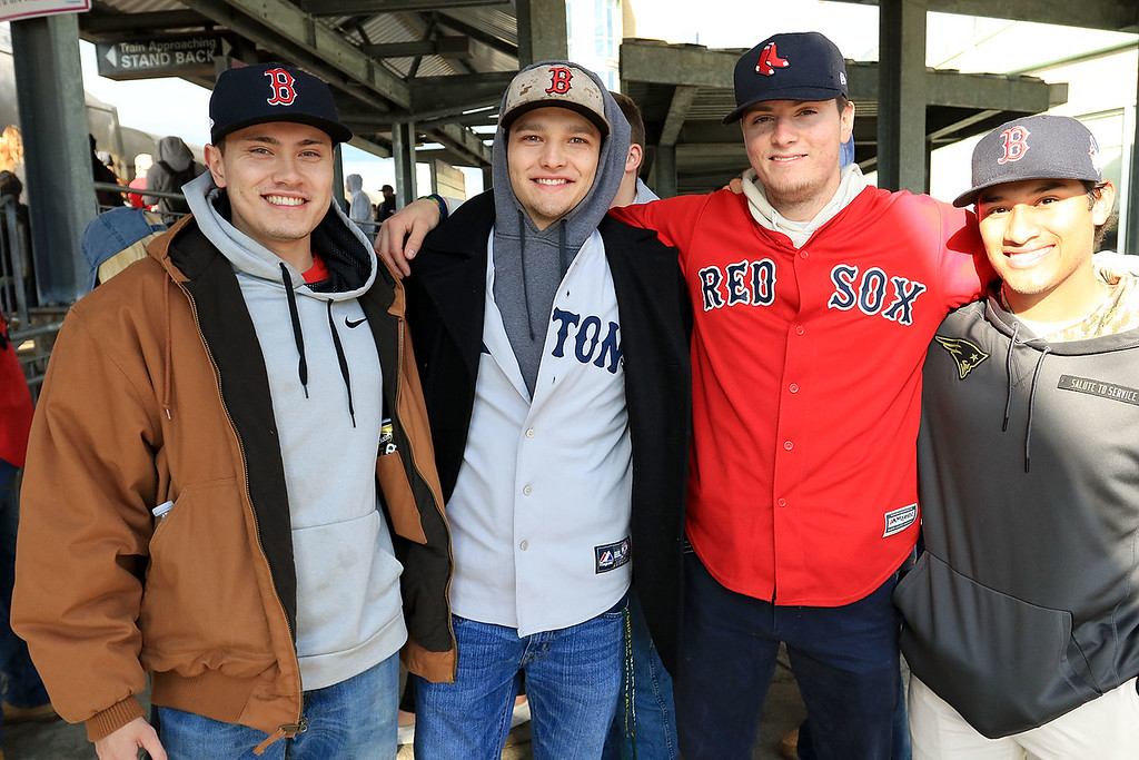 . The Red Sox World Series Parade was held on Wednesday morning in Boston. Many took the train from Fitchburg into Boston so they did not have to drive. SENTINEL & ENTERPRISE/JOHN LOVE