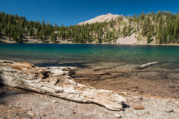 Cascade Mountains; Lassen Volcanic National Park; Shadow Lake; california; lake Shadow Lake lies a very short distance from Terrace Lake and is much larger.