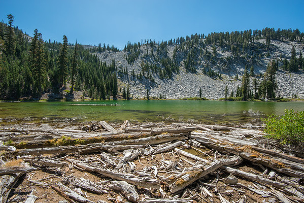 Cascade Mountains; Lassen Volcanic National Park; california; cliff lake; lake While there were a number of people at Terrace and Shadow Lakes, not a one at Cliff, just a short spur off the main trail.