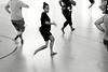 Danseuses tuhoe s'exerçant dans un gymnase à Ruatahuna. Bay of Plenty/Ile du Nord/Nouvelle-Zélande