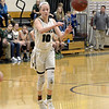 STAN HUDY - SHUDY@DIGITALFIRSTMEDIA.COM<br /> Greenwich freshman Molly Brophy sends a pass to her left during her Class C preliminary game against Maple HIll at Greenwich HIgh School. Feb. 20, 2018.