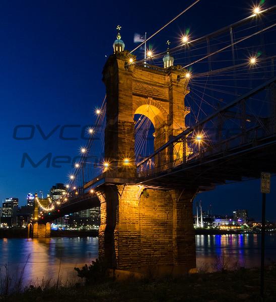 Rich Sears  Roebling Suspension Bridge  Gloss   13 x 15  $80  timetravelerxiv@gmail.com  513 324-5643