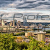 Teresa Jack, Cincinnati Panoramic, color print on canvas, 12x36, $185.00, teresajack@hotmail.com 513-218-0754