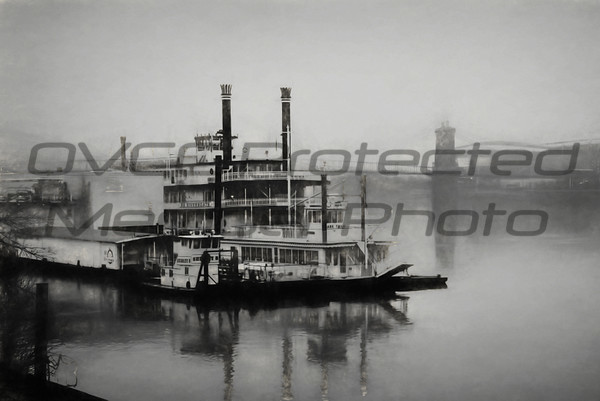 Joe Chunko, Morning Fog On The OHIO, Photo Printed on Metallic Paper, 22x28, $160.00, jrchunko@gmail.com, 513 492 7379