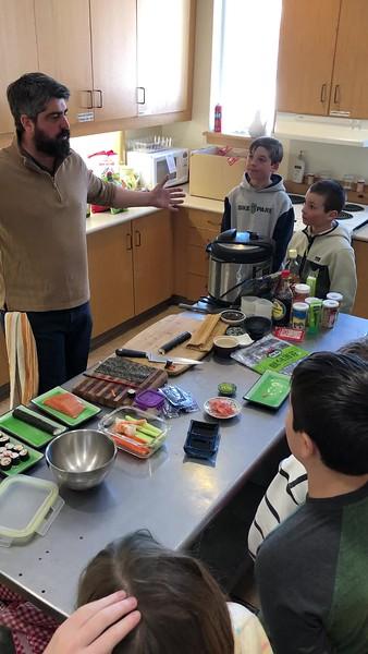 4th Grade sushi making