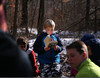 "HOLLY PELCZYNSKI - BENNINGTON BANNER 4th grader Cooper Bean reads to himself while other students pair up while reading ""My side of the mountain"" on Monday morning during an outdoor classroom block at Maple Street School on Manchester."
