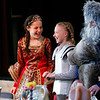 HOLLY PELCZYNSKI - BENNINGTON BANNER Sixth graders Mackenzie Morgan and Meredith Haber laugh while attending the medieval dinner as royalty on Thursday afternoon at Maple Street School in Manchester. The medieval dinner is a celebration held at the end of a month long study of medieval times.