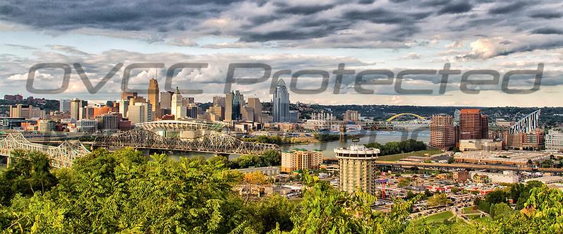 Teresa Jack, Cincinnati Panoramic, color print on canvas, 12x36, $185.00, teresajack@hotmail.com 513-218-0754