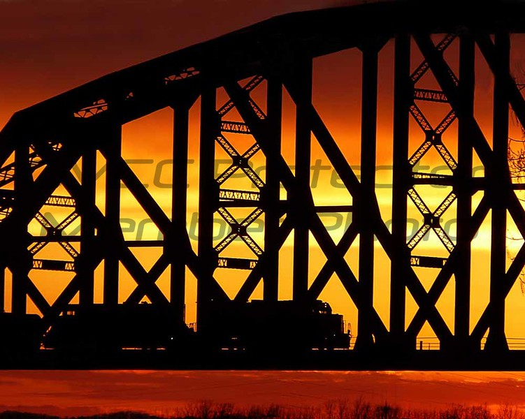 Bobbie Butler, Train on Bridge, Digital Photography, 20 x 24, $130, bobbienb@isoc.net, 513-874-3629
