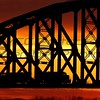 Bobbie Butler, Train on Bridge, Digital Photography, 20 x 24, $130, bobbienb@isoc.net, 513-874-3629