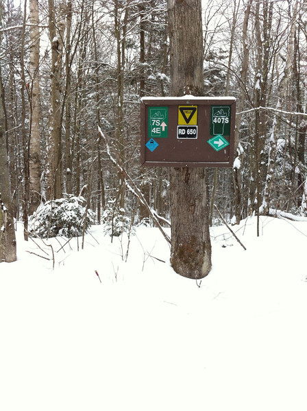 RD 649 the intersection of 407 and the feeder trail to the Notch Road Parking lot.