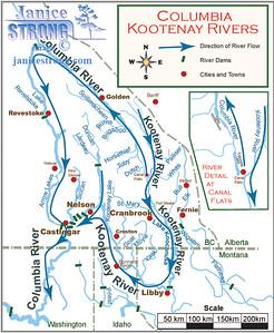 Kootenay River Map