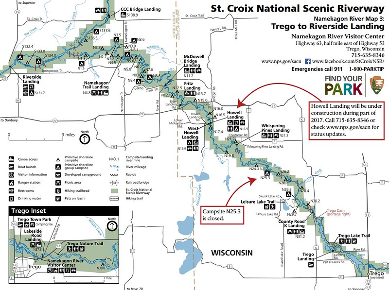 St. Croix National Scenic Riverway (Map 3 - Trego to Riverside Landing)