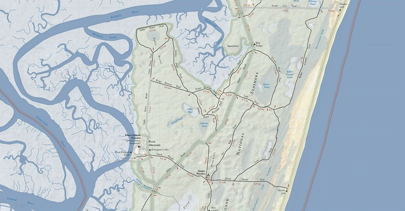 Cumberland Island National Seashore (Trail Map - North Central)