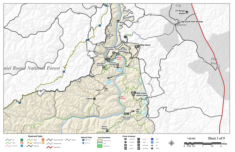 Big South Fork National River and Recreation Area (Trail Map - Section #3)
