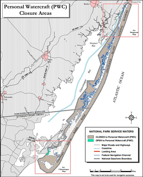 Assateague Island National Seashore (Personal Watercraft Closure Areas)