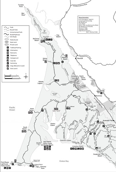 Point Reyes National Seashore (Trails - North District)