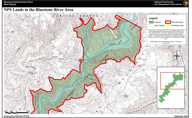 Bluestone National Scenic River (Hunting Map - North)