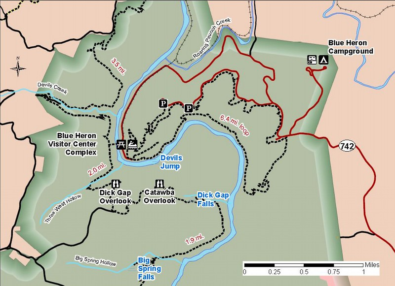 Big South Fork National River and Recreation Area (Kentucky Trails - Blue Heron Area)