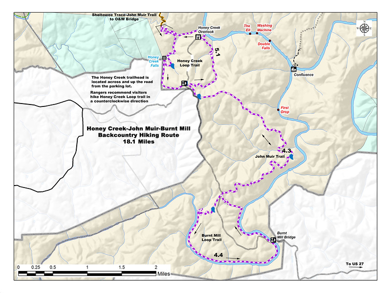 Big South Fork National River and Recreation Area (Honey Creek Loop Trail)