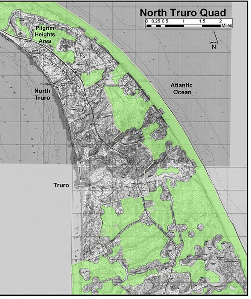 Cape Cod National Seashore (North Truro Quad Hunting Zone Map)