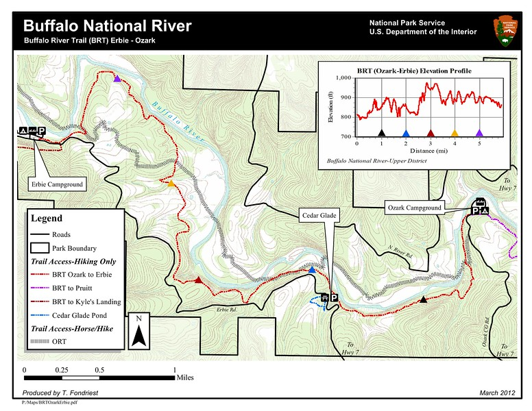 Buffalo National River (Buffalo River Trail - Erbie to Ozark)