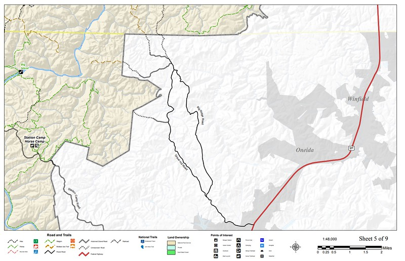 Big South Fork National River and Recreation Area (Trail Map - Section #5)