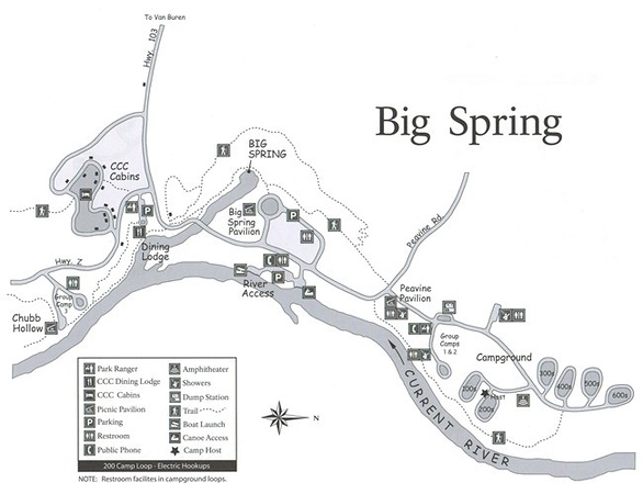 Ozark National Scenic Riverways (Big Spring Campground)