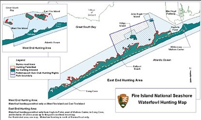Fire Island National Seashore (Waterfowl Hunting Map)