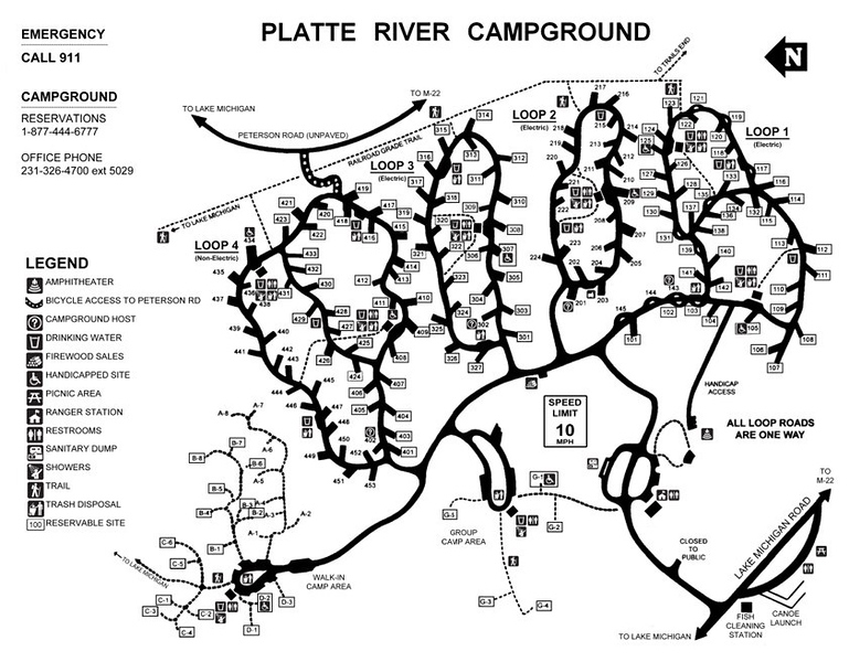 Sleeping Bear Dunes National Lakeshore (Platte River Campground)
