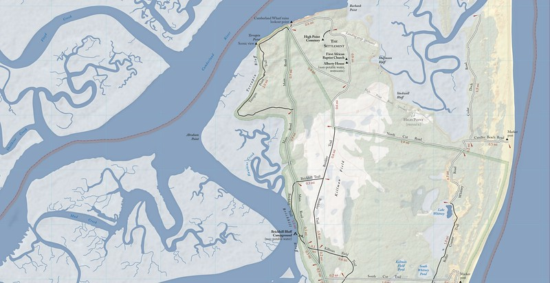 Cumberland Island National Seashore (Trail Map - North)