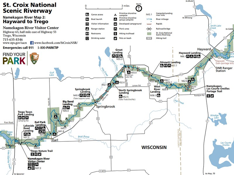 St. Croix National Scenic Riverway (Map 2 - Hayward Landing to Trego)