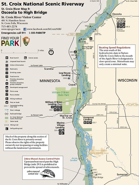 St. Croix National Scenic Riverway (Map 9 - Osceola to High Bridge)
