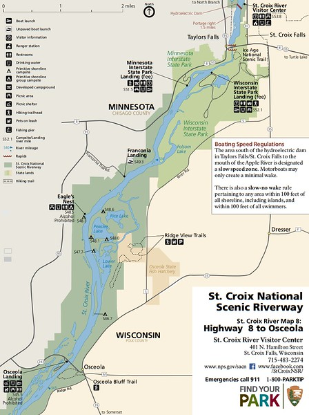 St. Croix National Scenic Riverway (Map 8 - Highway 8 to Osceola)