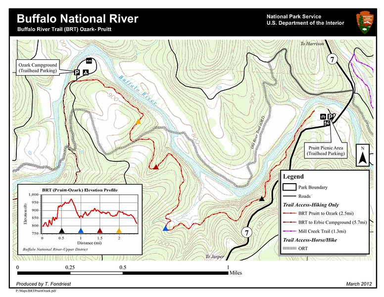 Buffalo National River (Buffalo River Trail - Ozark to Pruitt)