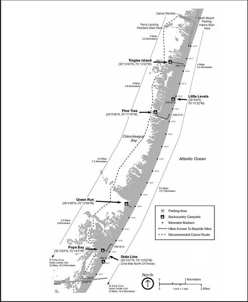 Assateague Island National Seashore (Backcountry Campsite Map)