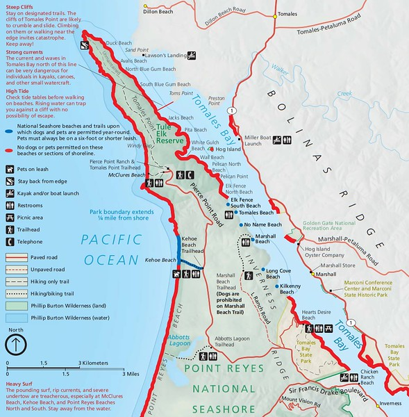 Point Reyes National Seashore (Dog Areas - Tomales Bay)