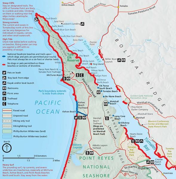 Point Reyes National Seashore (Dog Areas - Tomales Bay)
