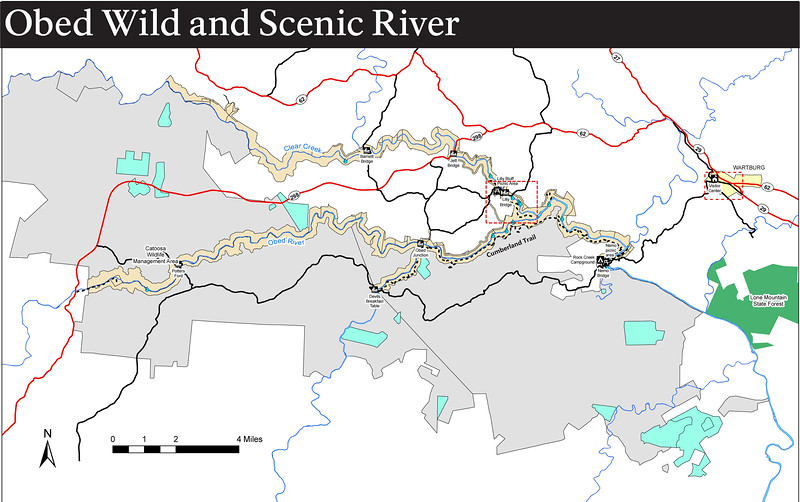Obed Wild and Scenic River (Trail Map)