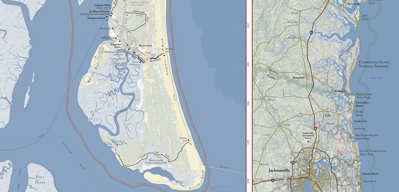 Cumberland Island National Seashore (Trail Map - South)
