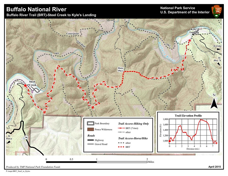 Buffalo National River (Buffalo River Trail - Steel Creek to Kyle's Landing)