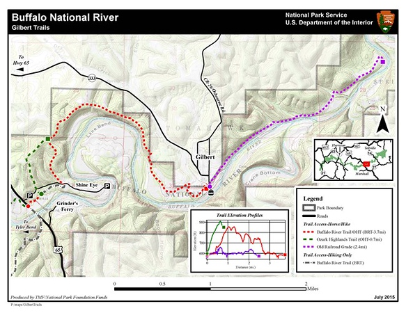 Buffalo National River (Gilbert Area Trails)