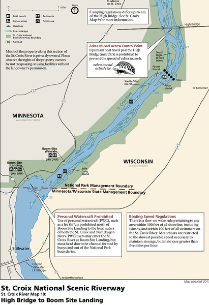 St. Croix National Scenic Riverway (Map 10 - High Bridge to Boom Site Landing)