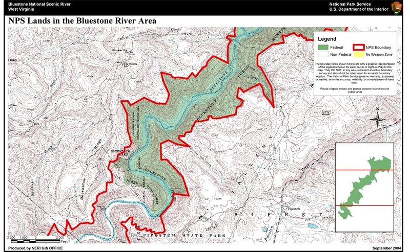 Bluestone National Scenic River (Hunting Map - South)