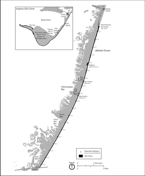 Assateague Island National Seashore (Over Sand Vehicle Map)