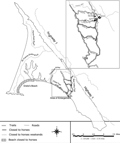 Point Reyes National Seashore (Horse Closure Areas)